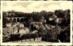 Postcard Luxemburg, Faubourg du Grund et Viaduc du Nord