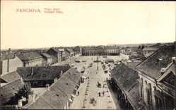 Postcard Pancsova Pančevo Pantschowa Serbien, Nagy piacz, Großer Platz