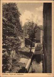 Ak Grudziądz Graudenz Westpreußen, Trinke mit Stadtmauer