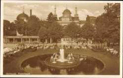 Postcard Dortmund im Ruhrgebiet, Fredenbaum, Fontäne, Platz