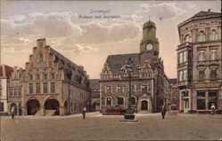 Postcard Dortmund im Ruhrgebiet, Rathaus und Sparkasse