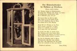 Postcard Lüneburg in Niedersachsen, Der Schweinsknochen im Rathaus, Gedicht
