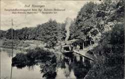 Postcard Bad Kissingen Unterfranken, Dampfschifflandungsplatz am Salinen Restaurant