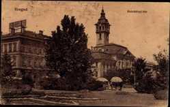 Postcard Segedin Szeged Ungarn, Szechenyi ter, Parkanlage, Gebäude