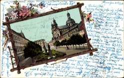 Passepartout Ak Mannheim in Baden Württemberg, Der Theaterplatz