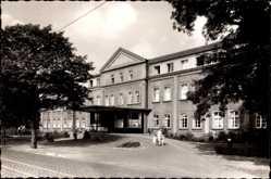 Foto Ak Oberhausen am Rhein, Partie am evang. Krankenhaus