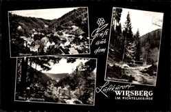 Postcard Wirsberg im Frankenwald Bayern, blick vom Adlerstein, Schorgasttal