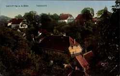 Postcard Lauenburg an der Elbe, Blick über die Dächer der Stadt
