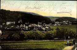 Postcard Bad Liebenstein im Wartburgkreis, Panoramaansicht der Stadt