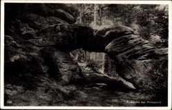 Postcard Pirmasens am Pfälzerwald Rheinland Pfalz, Blick durch das Felsentor