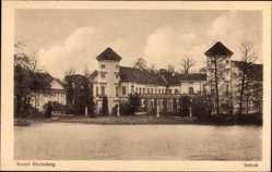 Postcard Rheinsberg in Brandenburg, Blick auf das Schloss, See, Fassade