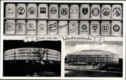 Postcard Dortmund im Ruhrgebiet, Westfalenhalle, Bierkrugsammlung von Walter Dung
