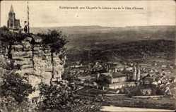 Postcard Echternach Luxemburg, Chapelle St. Liboire vue de la Côte d'Ernzen