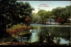 Ak Tschernjachowsk Insterburg Ostpreußen, Partie am Stadtpark