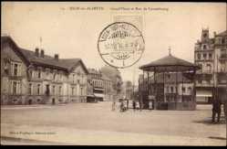 Postcard Esch an der Alzette Luxemburg, Grand Place et Rue de Luxembourg