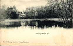 Postcard Friedrichsruh Aumühle im Herzogtum Lauenburg, Teichpartie, Haus