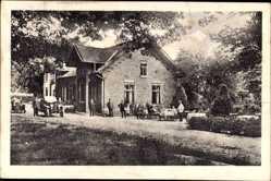 Postcard Syke Niedersachsen, Blick auf Ritterhoff's Gasthof am Walde, Autos