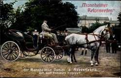 Postcard Mannheim in Baden Württemberg, Mannheimer Reformreifen, Gummi Asbestfabrik
