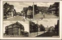Postcard Lünen in Nordrhein Westfalen, Zeche Victoria Kolonie, Barbarastraße, Schule