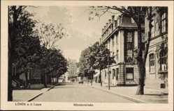 Postcard Lünen a. d. Lippe in Nordrhein Westfalen, Blick in die Münsterstraße, Häuser