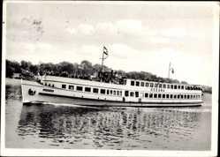 Postcard Hansestadt Bremen, Salon Dampfer Ozeana, Otto W.A. Schreiber Reederei