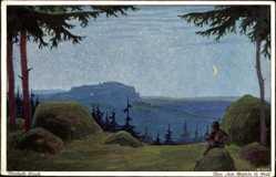 Künstler Ak Clauß, Berthold, Über allen Gipfeln ist Ruh, Primus 3108