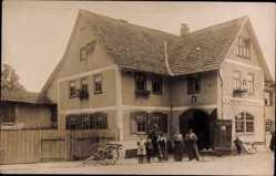 Foto Ak Römhild in der Region Grabfeld Thüringen, A. Zetzmann Schmiedemeister