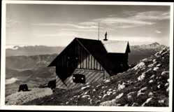 Postcard Slowenien, Presernova koca na Stolu, Triglav, Schutzhütte