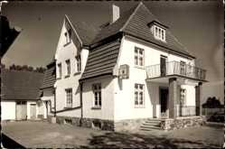 Foto Ak Lembruch in Niedersachsen, Blick auf Gasthaus zum Bahnhof