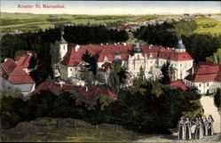 Postcard Mariental Ostritz in der Oberlausitz, Blick auf das Kloster St. Mariental