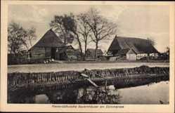 Postcard Lembruch in Niedersachsen, Niedersächsische Bauernhäuser am Dümmersee