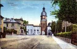 Postcard Coburg in Oberfranken, Ketschentor, Villen Straße, Reserve Lazarett