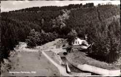 Postcard Perlenau Monschau Montjoie Eifel Nordrhein Westfalen, Haus am Wald, Brücke