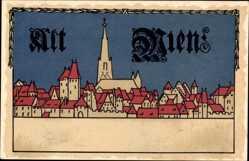Steindruck Ak Wien Österreich, Blick auf Alt Wien, Kirchturm, Häuser