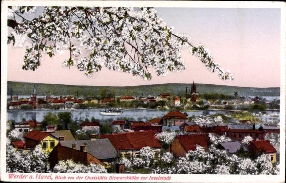 Postcard Werder An Der Havel Blick Von Der Gaststatte Akpool Co Uk