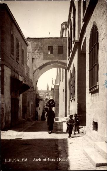 Jerusalem Israel, Arch of Ecce Homo, Torbogen, Häusergasse