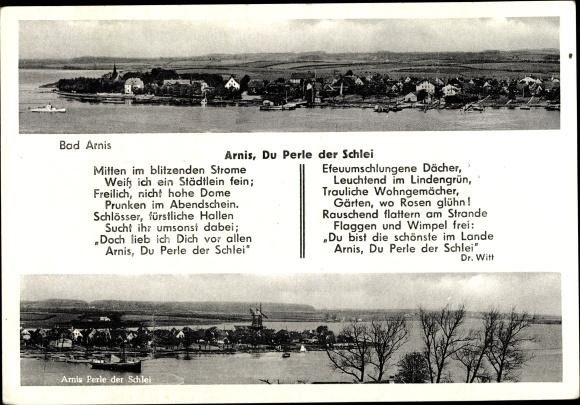Gedicht Postcard Bad Arnis Ort Mit Gedicht Du Perle