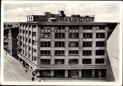 Postcard Hansestadt Bremen, Blick auf das Übersee Hotel, Am Markt, Wachtstraße