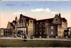 Postcard Düren in Nordrhein Westfalen, Blick auf das Krankenhaus, Fassade