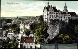 Postcard Sigmaringen an der Donau Baden Württemberg, Blick auf den Ort und Schloss