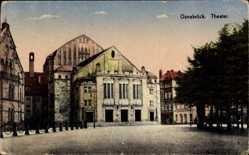 Postcard Osnabrück in Niedersachsen, Blick auf das Theater, Front