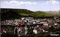 Postcard Meiningen in Südthüringen, Totalansicht der Stadt mit Umgebung