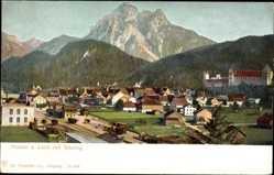 Postcard Füssen im schwäbischen Kreis Ostallgäu, Ortschaft mit Säuling