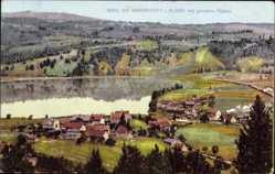 Postcard Immenstadt im Allgäu Schwaben, Ortschaft mit großen Alpsee