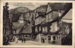 Postcard Bad Münster am Stein Ebernburg Bad Kreuznach, Bäderhaus, Brunnenpromenade