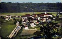 Postcard Beuron Württemberg, Blick auf den Ort im Donautal, Kloster, Bahnhof