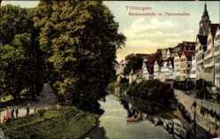 Postcard Tübingen am Neckar Baden Württemberg, Neckaransicht mit Platanenallee