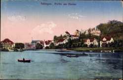 Postcard Tübingen am Neckar Baden Württemberg, Partie am Neckar, Blick auf den Ort
