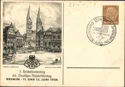 Ganzsachen Ak Bremen, 44 Deutscher Philatelistentag 1938,GS PP112 C89 01