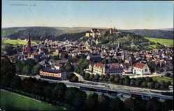 Postcard Heidenheim an der Brenz Baden Württemberg, Panorama der Stadt, Bahnhof